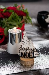 decor joyeux noel metalise decoration