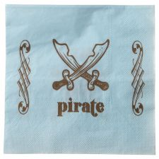 serviette papier pirate bleu 3949
