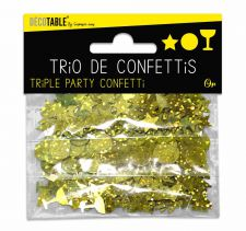 trio de confettis or
