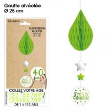 suspension goutte tous ages vert