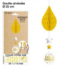 suspension goutte tous ages jaune