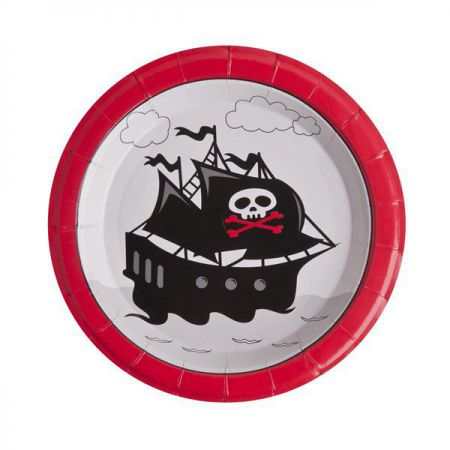 10 Assiettes en carton Pirate