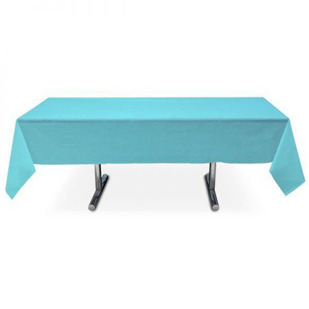 nappe turquoise intissee rectangle 15x3m anniversaire communion mariage fete feudartifice cotillons