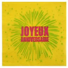 joyeux anniversaire fete rire amusement serviette de table impression couleur jetable decoration papier 3 plis promotion qualite them 3
