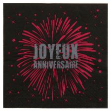 joyeux anniversaire fete rire amusement serviette de table impression couleur jetable decoration papier 3 plis promotion qualite them 2