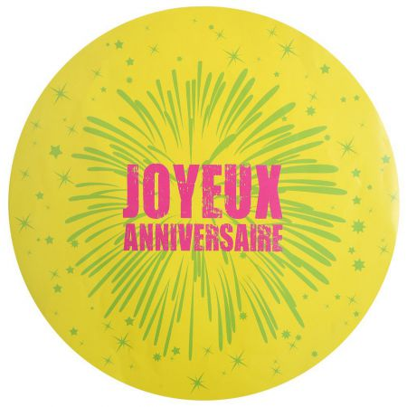 Set de table Anniversaire Jaune