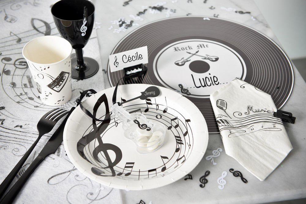 decoration de table musique