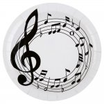mini3 assiette musique table decoration theme noir blanc fete ceremonie 2