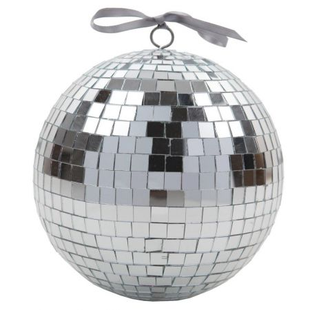 boule verre disco facettes tenture plastique brillant mat serviette disco theme fete ceremonie table decoration