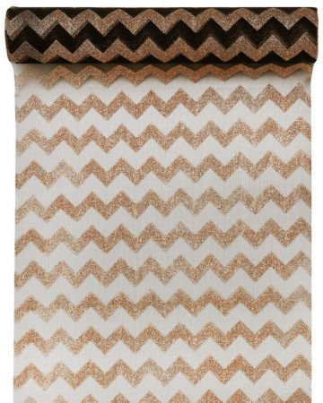 Chemin de table Chevron Or
