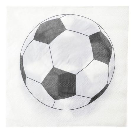 serviette papier football