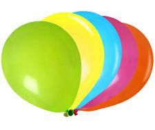 ballon multicolore latex couleur decoration salle 2
