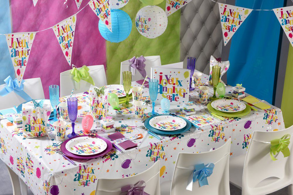 Anniversaire garcon decoration spaxdesign - Deco table anniversaire bebe 1 an ...