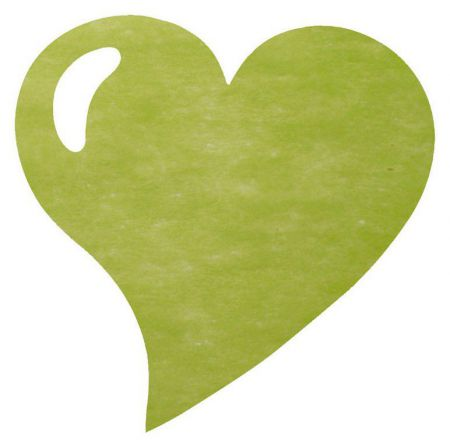 Set de table Coeur Vert