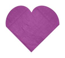 serviette coeur ceremonie fete decoration table salle couleur papier 6