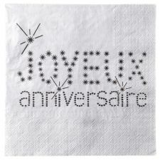 servitte papier absorbante anniversaire decoration table salle fete 9