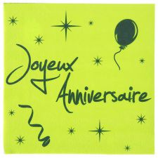 anniversaire serviette jetable papier solide couleur ceremonie decoration fete salle table 10