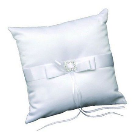 Coussin d'alliance strass blanc