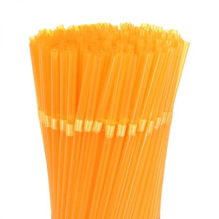 Paille Plastique Orange