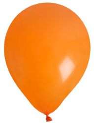 ballon de baudruche uni orange