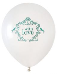 ballon de baudruche with love vert