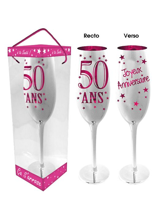 Flute A Champagne 50 Ans Rose