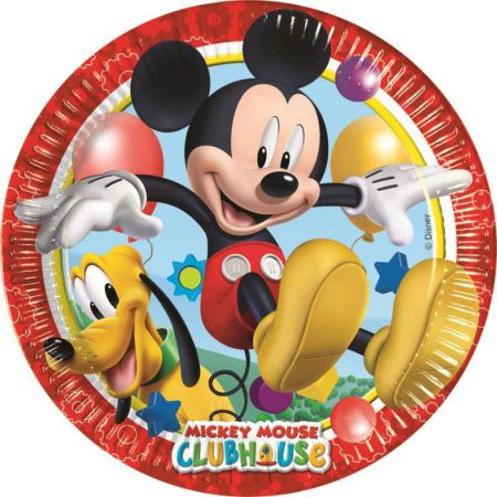0006393 playful mickey large plate top fete deco pas cher disney