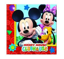 0006395 playful mickey napkins top fete licence mickey disney pas cher