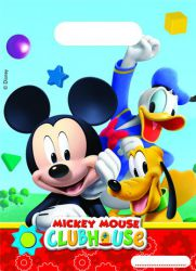 0006398 playful mickey party bags top fete licence disney mickey mouse