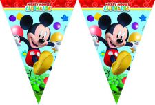 0006401 playful mickey triangle flag top fete licence mickey mouse disney banner