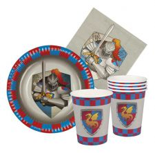 b44013 kit assiette gobelet serviette knights dragons boland top fete