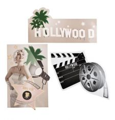 b44204 decoration hollywood anniversaire boland pas cher top fete