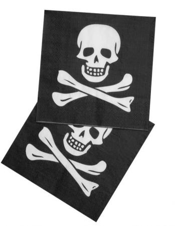 Serviette Pirate noir