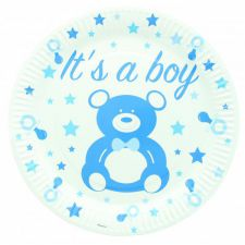 1121be assiette baby shower jetable carton decoration table