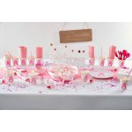 1121ro assiette baby shower jetable carton rose decoration