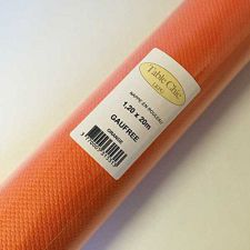 nappe papier gaufre orange 20m